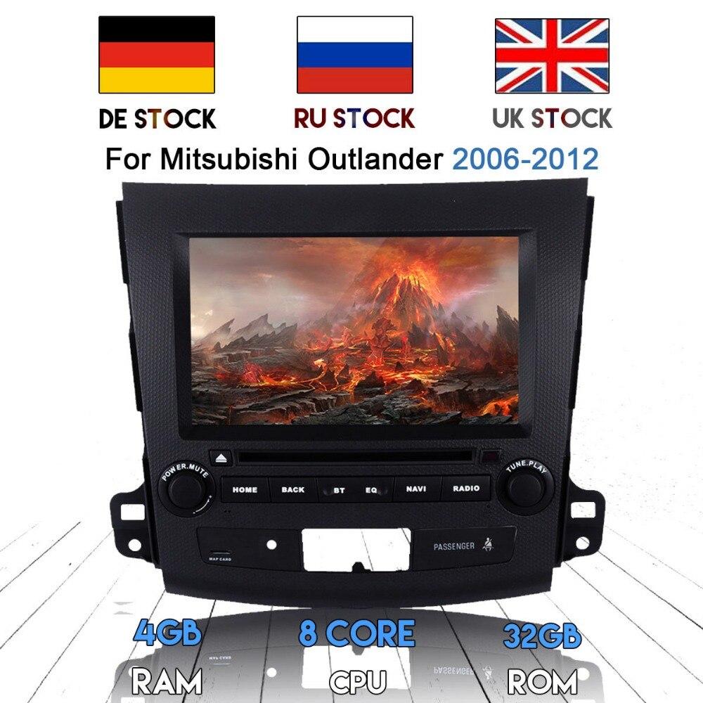 2 DIN Android 8,0 Car Radio reproductor de DVD GPS para Mitsubishi Outlander 2006, 2007, 2008, 2009, 2010, 2011, 2012 para Peugeot 4007 Audio