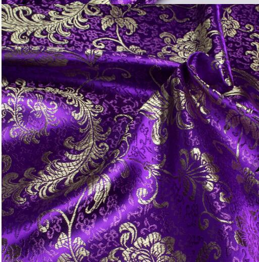 90cm * 50cm jacquard damasco chinês roupas de bebê kimono hanfu brocado cetim phoenix tecidos