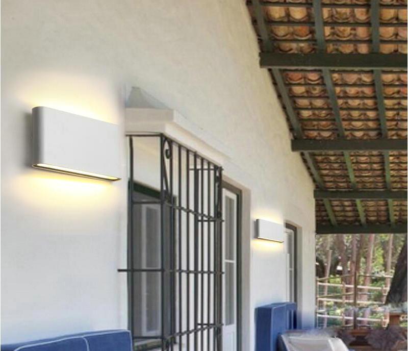 Ip68 ao ar livre/indoor 15 w conduziu a iluminação impermeável quadrada do arandela das lâmpadas de parede para cima e para baixo