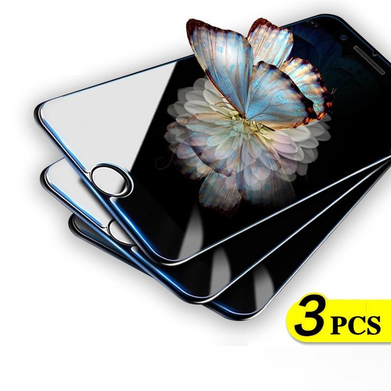 3 шт. Защитное стекло для iPhone 7 8 6 6s Plus 5 5S SE 4 4S закаленное стекло для iPhone X XS Max XR Защитное стекло для экрана