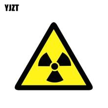 YJZT 14.4CM * 12.5CM Gevaar Straling Risico Auto Sticker PVC Waarschuwing Decal 12-1376
