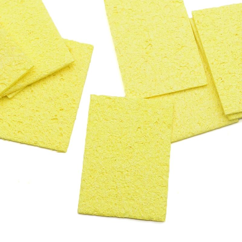 5 / 10db sárga tisztító szivacs, tisztító forrasztópáka - Hegesztő felszerelések - Fénykép 4