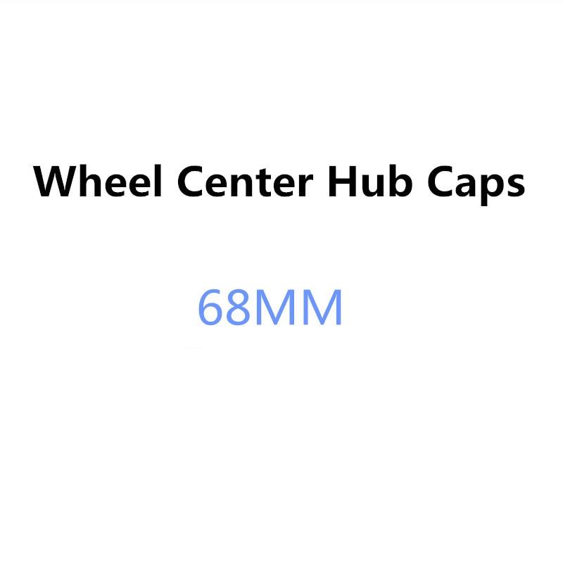 4PCS 68MM Car Wheel Center Hub Caps Rim Cap Covers For BMW X1 X3 E34 F10 F20 E92 E46 E39 E30 E90 E60 E36 F30 E87 E91 X5 E70 E53