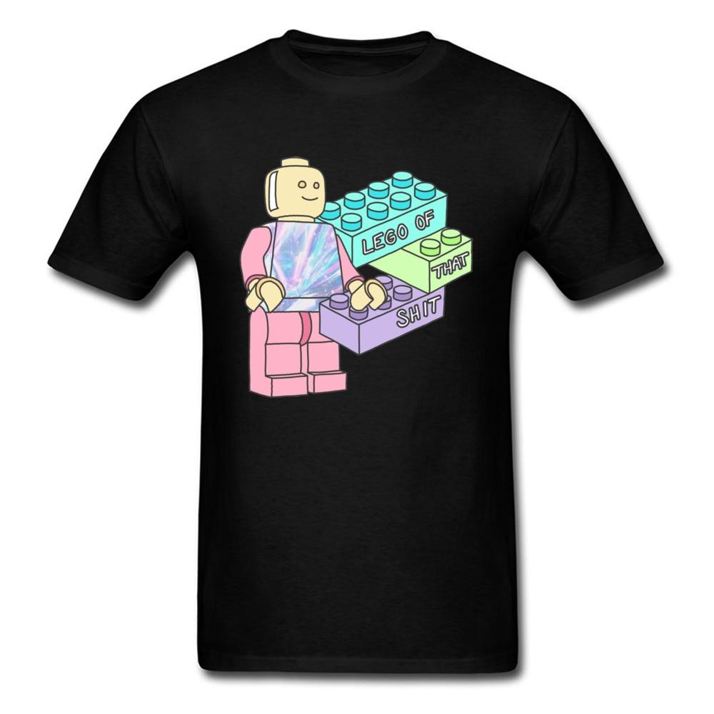Camisetas de juegos nuevas camisetas divertidas baratas Pastel tipografía Meme diseñador manga corta camisetas divertidas 100% algodón
