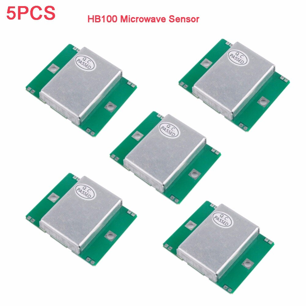 Detector de movimento radar, 5 pçs/lote hb100 microondas módulo 10.525ghz doppler para arduino fz0562