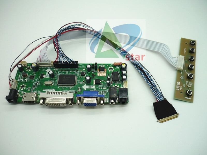 HDMI + DVI + VGA + AUDIO LCD Controlador Board kit 15.6 polegada B156HTN03.3 1920*1080 LCD placa controladora kits DIY