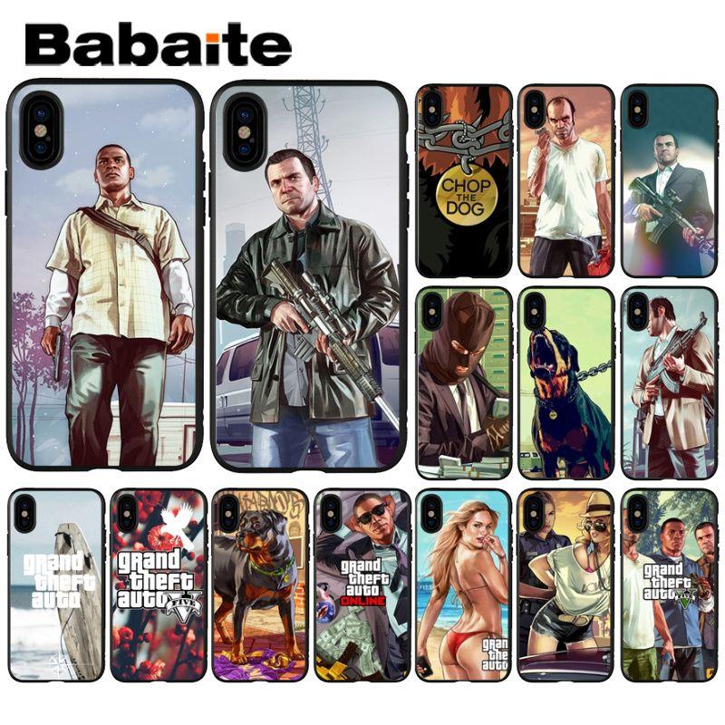 Babaite Grand Teft Auto Five Gta черный мягкий чехол для телефона iPhone 8 7 6 6S Plus 5 5S SE XR X XS MAX чехол