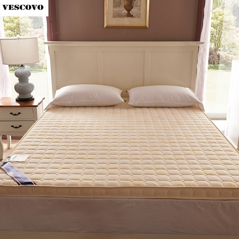 Colchón acolchado de algodón 100% de lujo relleno de masaje grueso 7cm colchón de espuma viscoelástica