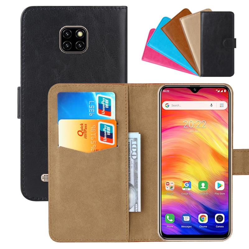 Funda billetera de lujo para Ulefone Note 7 PU cuero Retro Flip Cover fundas de moda magnética Correa