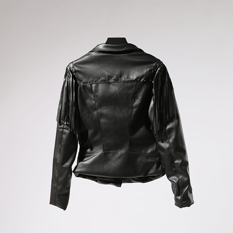 2020 Jaqueta Couro Zipper Tassel Casual Leather Jacket Women Promotion Full De Feminino Fringed Autumn New Soft Trend Pu Female enlarge