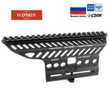 WIPSON Russische ak AK47 74 47 B-13 CNC Aluminium 20mm M47 qd Seite Rail Red Dot Umfang Montieren Basis picatinny Cerakote Jagd