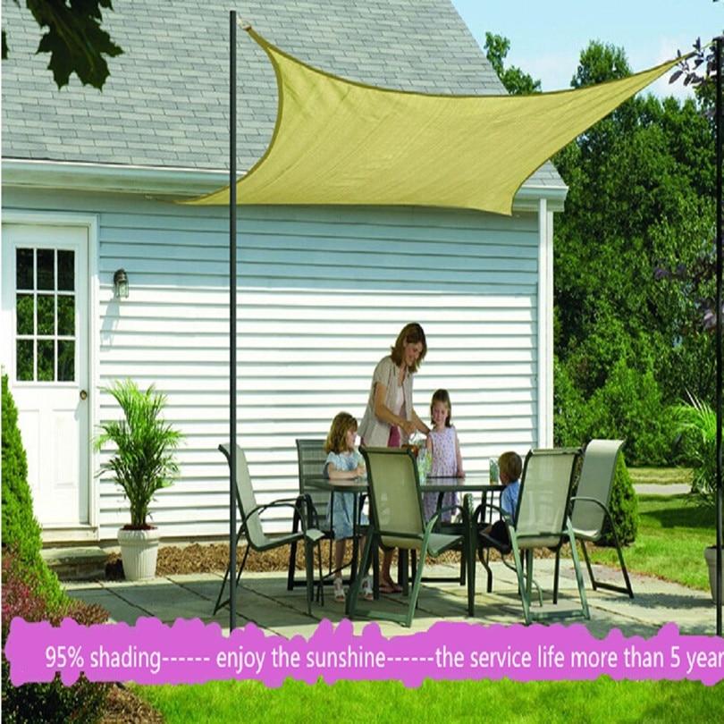 sun shade sail 3.6m*3.6m awnings toldo sunshade net balcony garden swimming pool shading cloth fabric gazebo tents cars outdoor