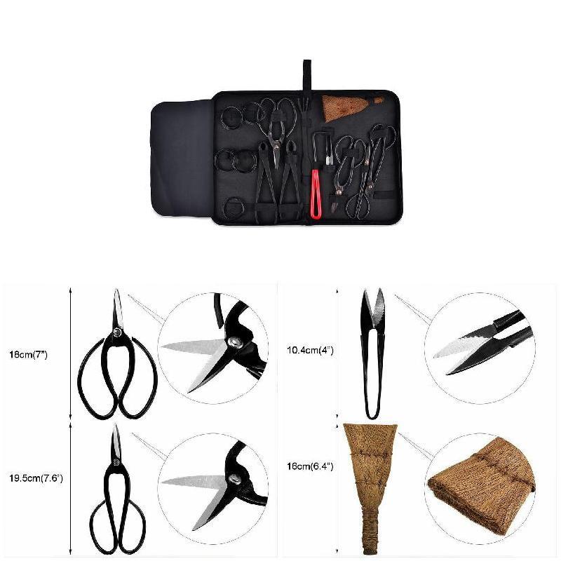 Juego de 15 Uds de tijeras de corte de herramienta de acero de carbono con caja de nylon para herramienta de recorte de jardín JA55