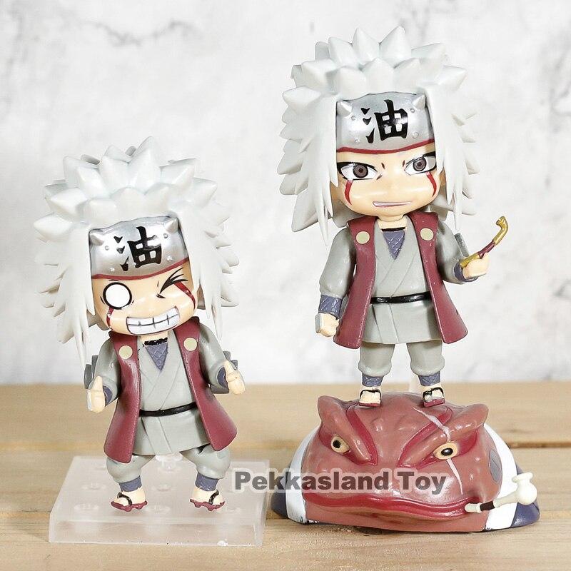 2 unids/set Anime NARUTO Shippuden Jiraiya Gama-Bunta PVC figura de acción linda chica de resina juguete de modelo de colección muñeca