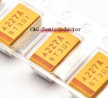 10PCS 6V 6.3V 10V 16V 25V 35V 50V 10UF 22UF 33UF 47UF 100UF 220UF 330UF 470UF D type SMD tantalum capacitor