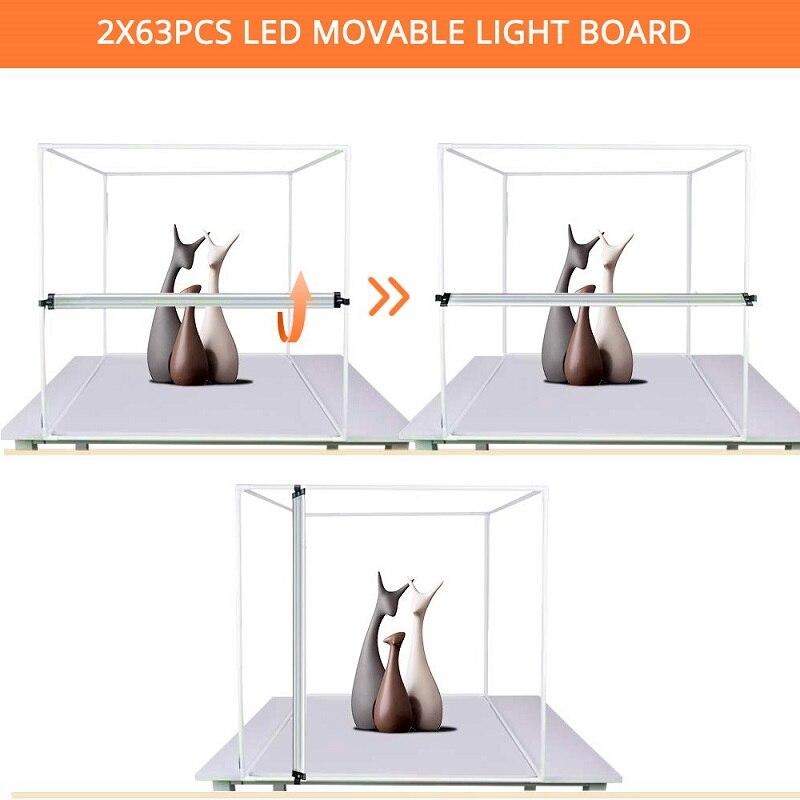 TRAVOR Portable Light Box 60 CM Photo Softbox With 3 Colors Background For Studio LED Photo Box Desktop LED Box Photography Tent enlarge