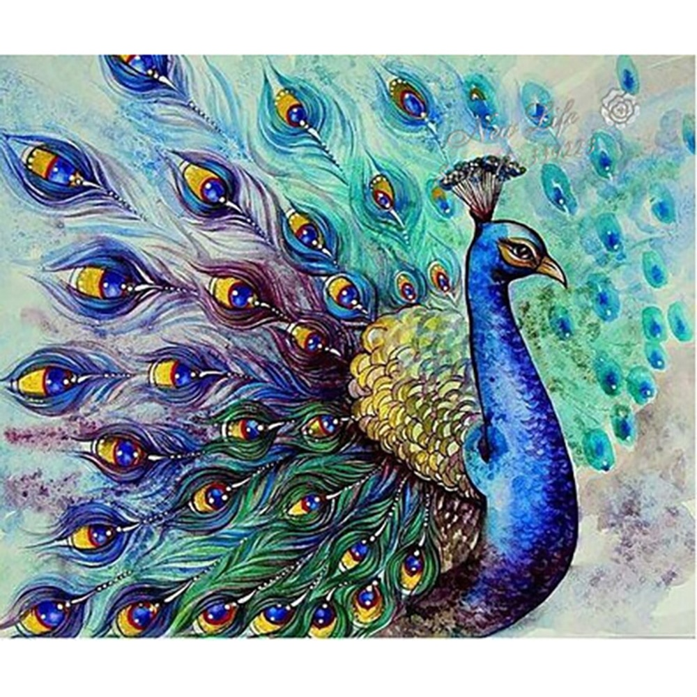 Полный набор алмазных картин DIY Красивый павлин вышивка крестиком Алмазная вышивка узоры Стразы мозаика домашний декор