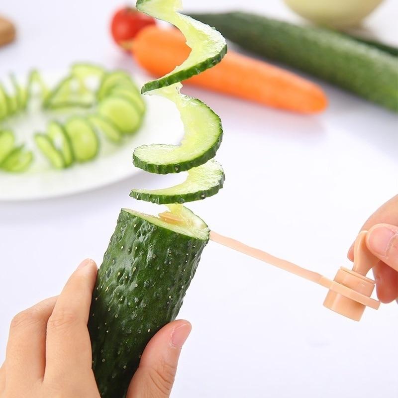 Cortador Manual DIY creativo espiral cortador retorcido patata verdura de patatas fritas tallado zanahoria tornillo rebanador accesorios de cocina