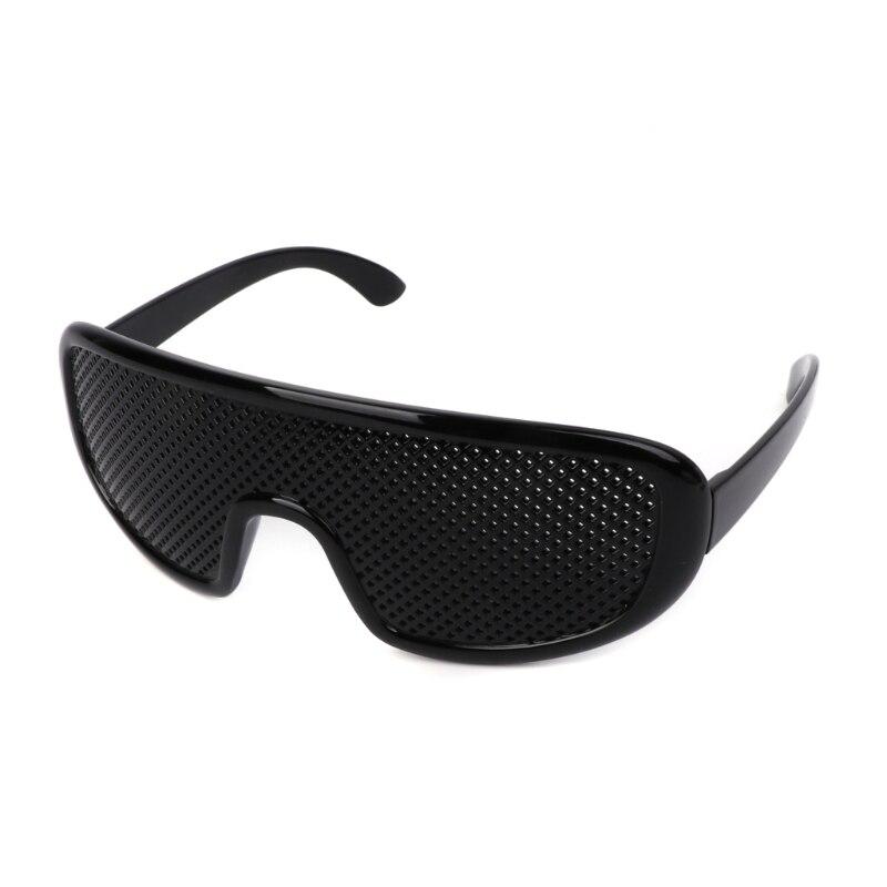 Preto quente unisex visão cuidado óculos pino buraco óculos olho exercício visão melhorar plástico cura natural barato