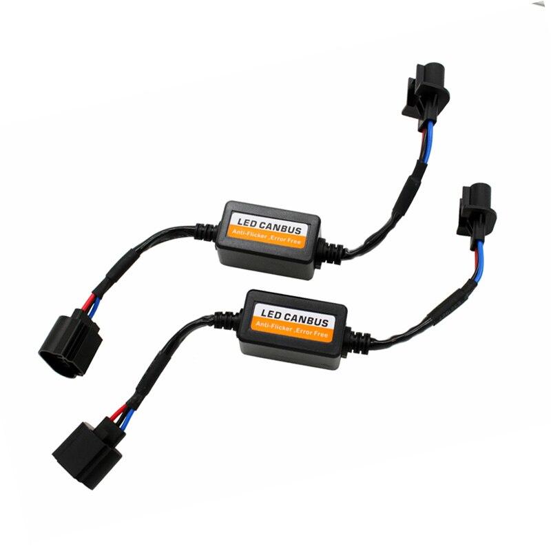 2 шт. пара H13 Автомобильный светодиодный индикатор ошибок, отдельный декодер Can-шина с компенсатором помех фара противотуманка ДХО нагрузочн...