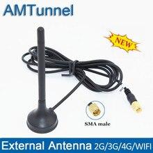 2,4 GHz antena WiFi 4G LTE antena 3G antena externa 7dBi SMA macho con cable de 1,5 m para Huawei 3G 4G router modem