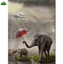 5D diy diamond painting elephant umbrella diamond Embroidery 3d diamond mosaic diamand painting cross stitchhome decoration