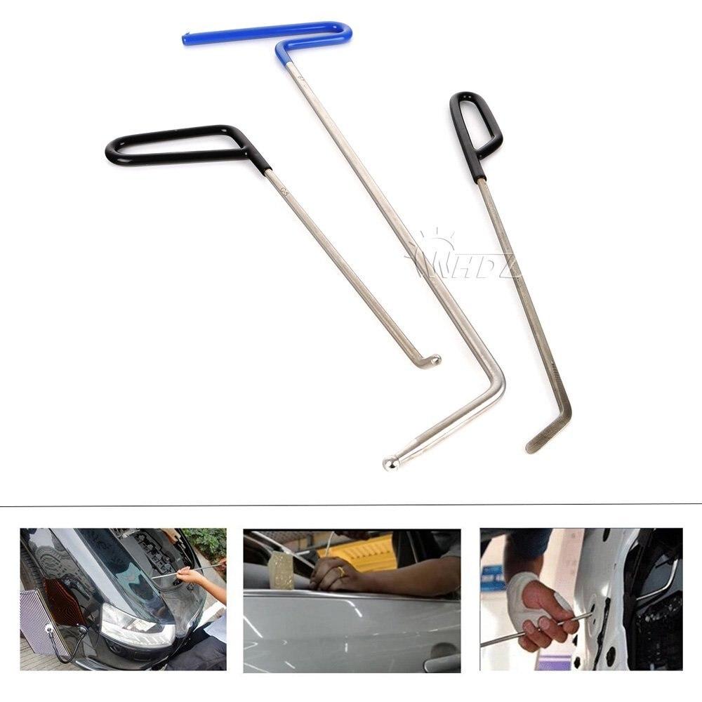 Whdz 3 pçs hastes de pdr gancho para porta dings reparação de granizo e remoção de dente-remoção de dente automotivo pdr reparação de granizo (b7 + c5 + c6)