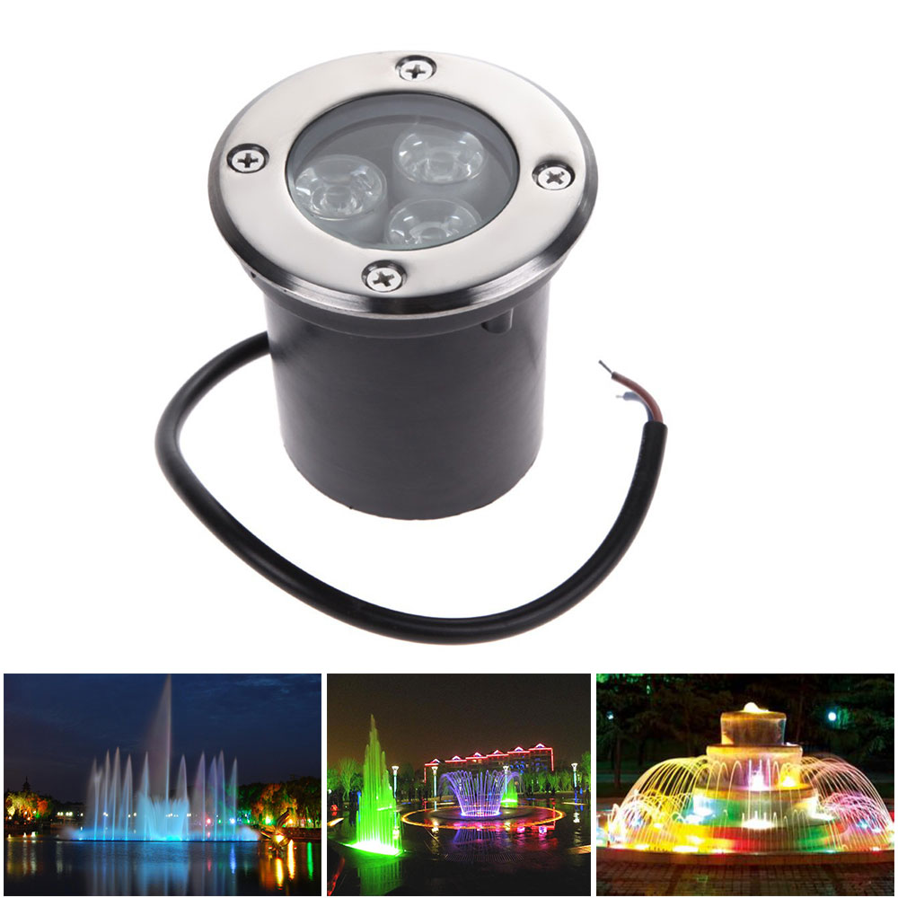 Envío gratuito nuevo IP65 3W LED impermeable LED luz subterránea terreno de exterior jardín piso enterrado patio lugar paisaje