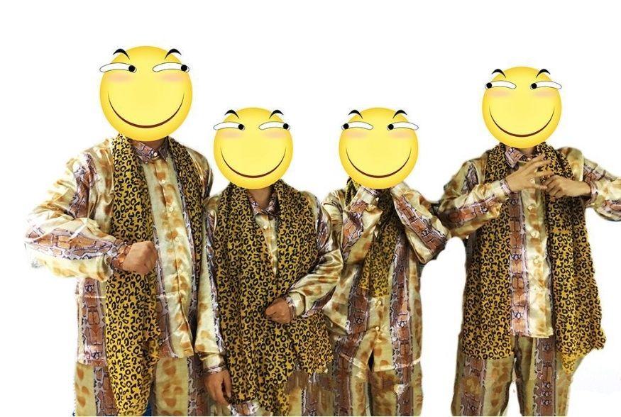 PPAP Stift Ananas Apple Pen Lustig Tanzen Cosplay Kostüm shirt + pants + schal Vollen Satz