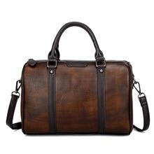 Men Women Top Handle Bags Large Capacity Tote Handbag Genuine Leather Cowhide For Traveling Shoulder Messenger Crossbody Bag