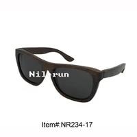 cheap vintage black wood sunglasses