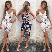 Summer Sexy Beach Dresses Floral print Maxi long dress Women Boho Style Deep V Neck strap dress Woman Playsuits Female