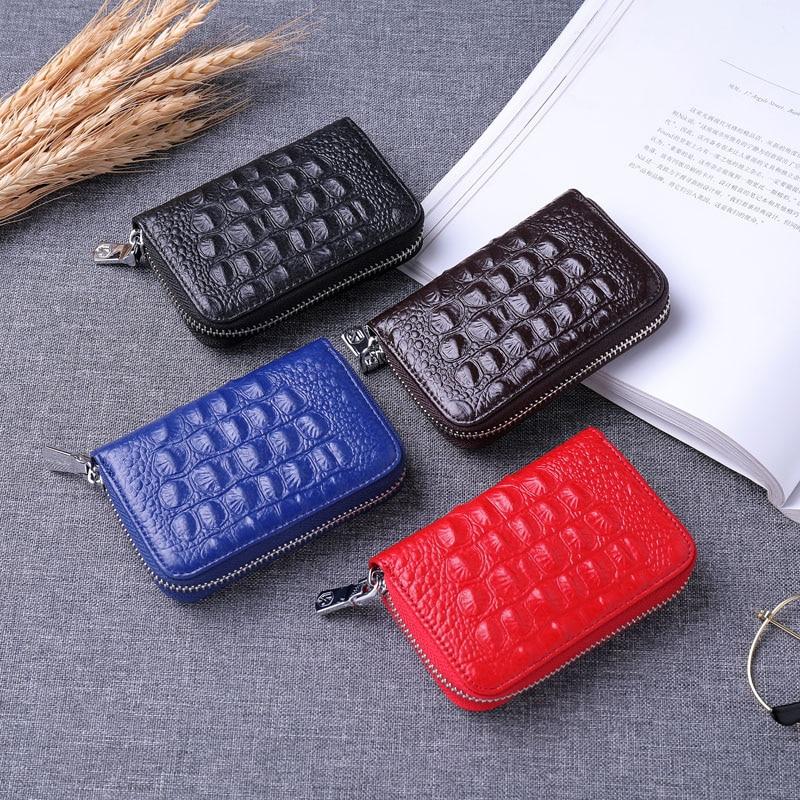 Купить с кэшбэком KEVIN YUN designer brand fashion women credit card holder genuine leather small zipper female card case wallet