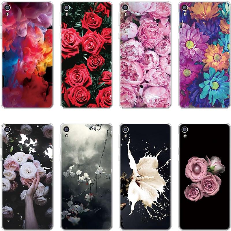 Case For Coque Sony Xperia E5 L1 L2 X XA XA1 XA2 Ultra Plus XZ XZ1 XZ2 Z5 Compact Flower Soft Funda For Sony Xperia XA TPU Cover