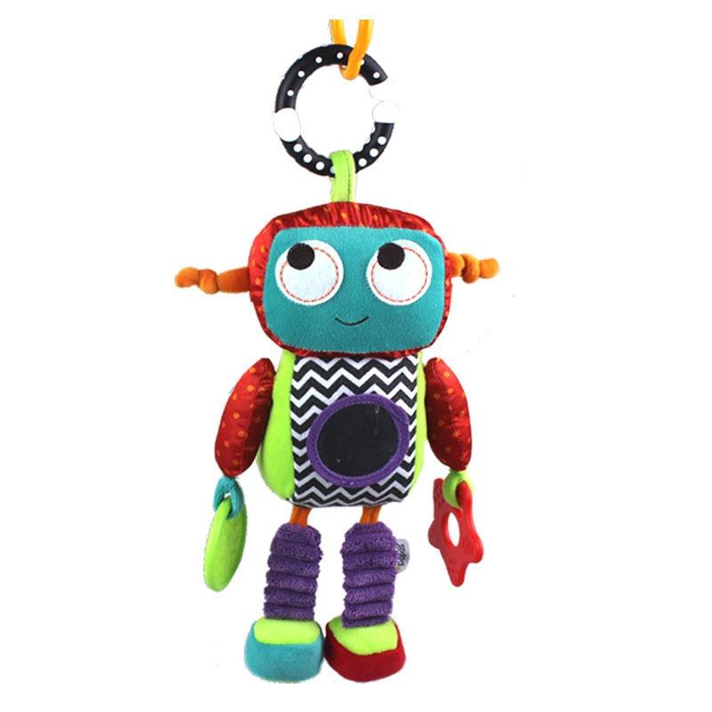 32cm juguete para bebé juguete de peluche suave cuna cama cochecito Robot colgante bonito Android sonajero mordedor anillo campana muñeca