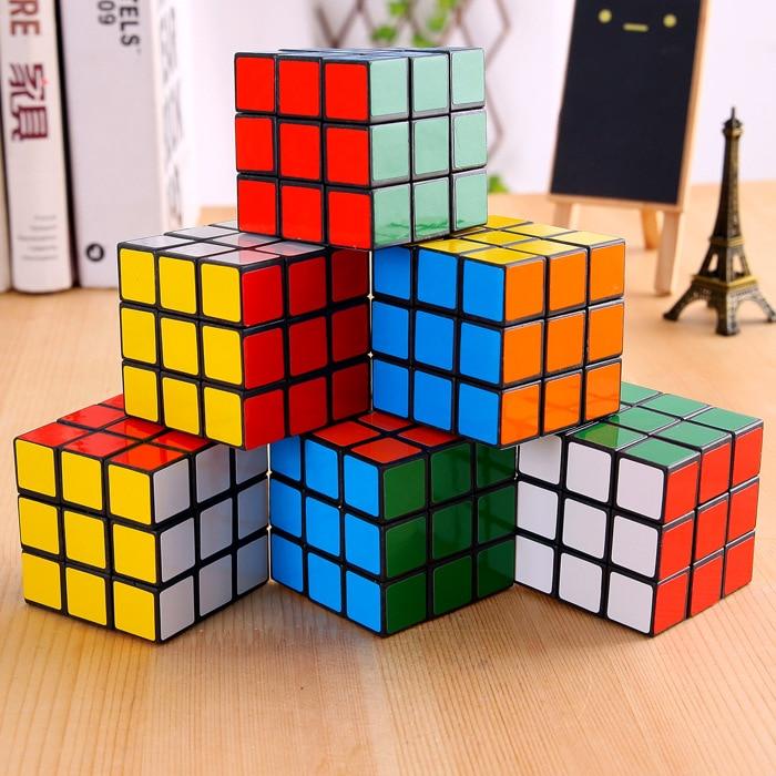 3x3x3 cm velocidade cubos mágicos quebra-cabeça cubo adesivo adulto educação brinquedos para crianças