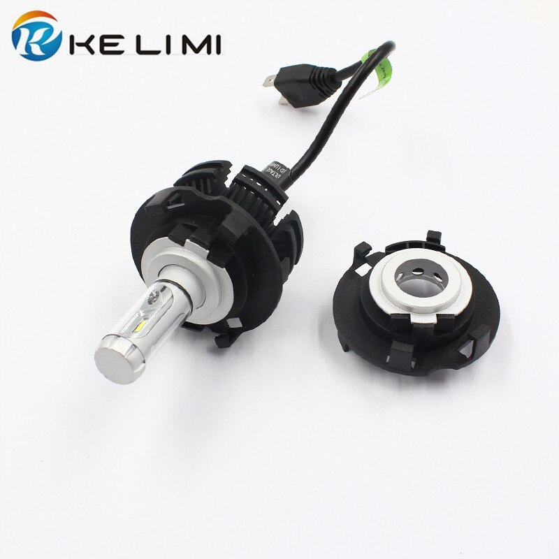 Ke li mi h7 led cabeça adaptador de luz para hyundai mistra novo tucson led lâmpada base conversão clipes retentor para kia carnaval h7