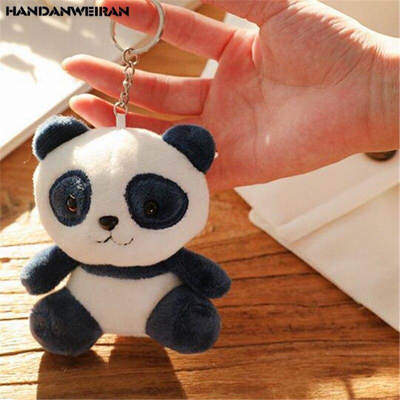 1PCS Schöne Plüsch Panda Tier Spielzeug Puppen Kleine Anhänger Baby Niedliche Weiche Plüsch Pandas Spielzeug 4 Farben Kinder Geschenk 10CM HANDANWEIRAN