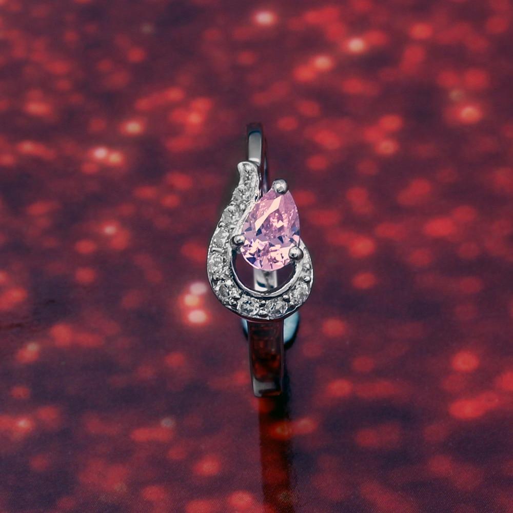 Alta calidad chapado en rodio puro 925 plata esterlina Rosa CZ Venta caliente joyería para mujeres R616