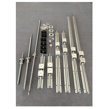 6sets linear guide rail SBR16 - 400/600/700mm + SFU1605 - 450/650/750/750mm ballscrew +BK12/BF12+Nut housing +Coupler cnc parts