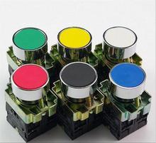 5 piezas auto-reinicio momentáneo pulsador de descarga 1 N/O interruptor de botón de empuje plano reemplazar Telemecanique