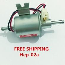 HEP-02A de bomba de combustible eléctrica Universal de 12v para carburador, motocicleta, ATV, gasolina, diesel, Envío Gratis