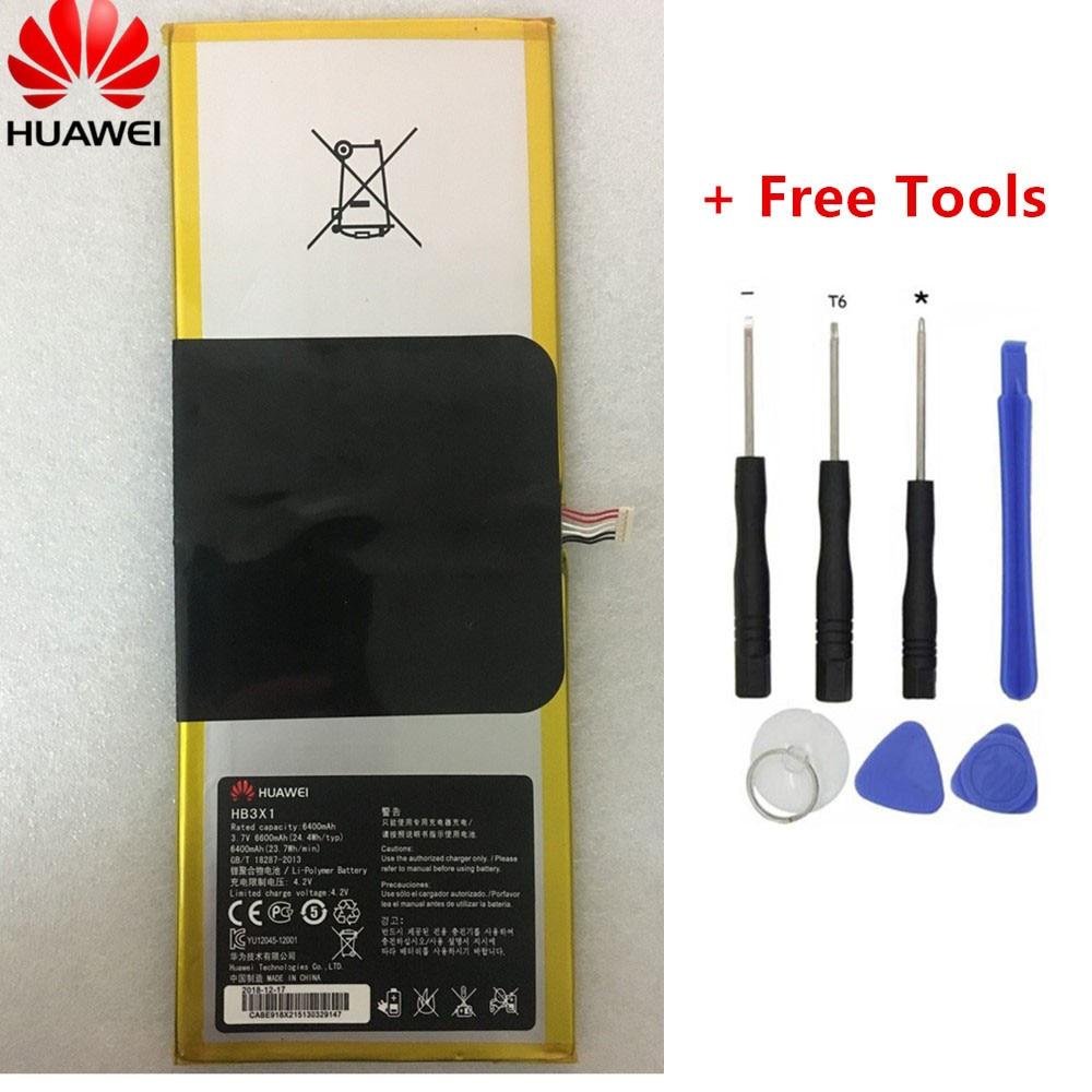 6400mah bateria para huawei mediapad 10 link S10-201wa S10-201WA 201u 231u 231w tablet pc HB3484V3EAW-12/hb3x1 baterias + ferramentas
