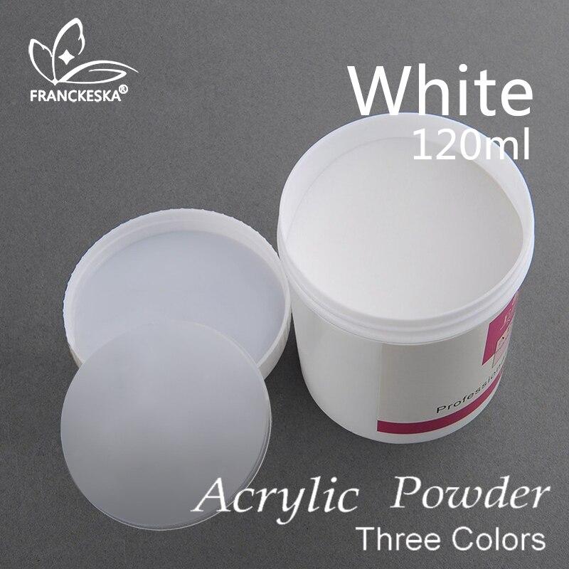 Francheska 120ml likit polvo acrílico uñas de acrílico nagels oje unas acrilicas y gel acrylique ongle acrílico colores blanco