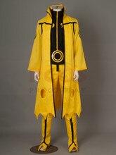 Naruto se transforme du Mode Chakra à neuf queues en Mode Kurama Naruto Uzumaki Hokage Cosplay déguisement dhalloween jaune mp000784