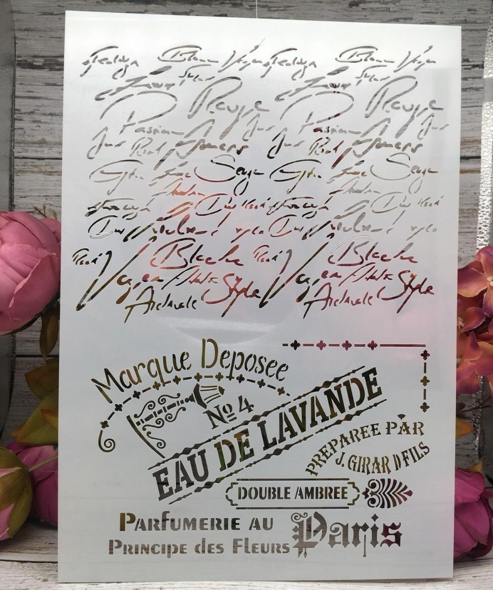 A4 Francés París cercanas bricolaje capas plantillas de pared pintura libro de recortes colorear relieve álbum de papel decorativo Plantilla de tarjeta de
