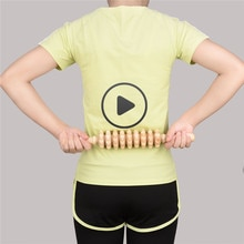 Palo de masaje de madera dura, masajeador de balanceo de madera, rodillo terapéutico para masaje muscular, punto de reflexología, palo de rueda de madera 31