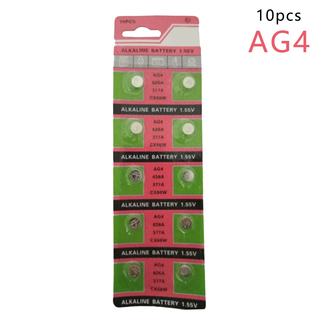 Centechia Hohe Qualität Großhandel 10 Teile/los = 1 karten AG4 377A 377 LR626 SR626SW SR66 LR66 taste zellen Uhr Münze batterie
