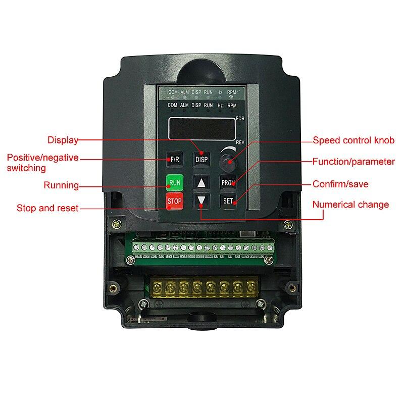 2.2KW/1.5KW CNC متغير تردد تحويل محرك VFD العاكس AC/DC المغزل المحركات ل CNC الطحن النقش آلة