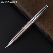 MONTE MOUNT Diamond Clip Smooth Metal Ballpoint Pen Rollerball Pen Luxury Ballpoint Pens for Christmas Gift Free Shipping